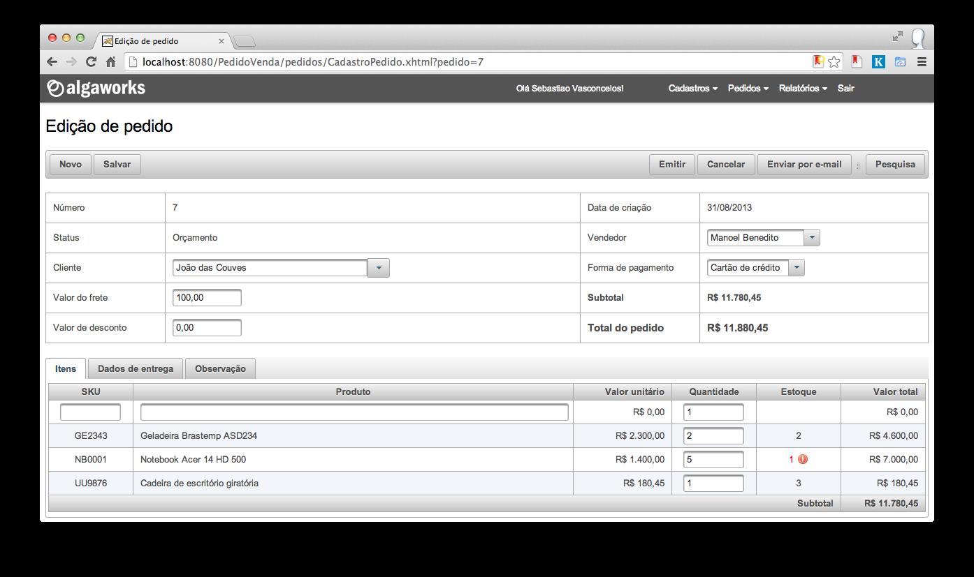 Screenshot do projeto